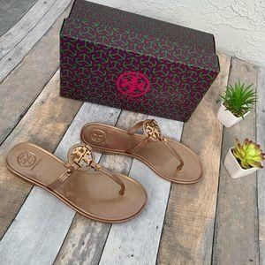 •Tory Burch • New! Mini Miller Sandals • Rose Gold